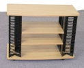 7521 <br> Maple Laminate/Black - Maple Laminate/Black TV/DVD Stand