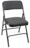 3001 Paded Blk Metal Folding Chair - 3001 Paded Seat & Back Blk Metal Folding Chair
