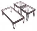 7559/CT & 7559/ET <br> Blk/Glass - 7559/CT Black/Glass Coffee Table ... 7559/ET Black/Glass End Tab