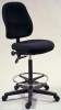 514RDR <br> Ergonomic Drafting Chair - Black Ergonomic Drafting Chair