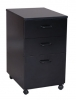 CA3C <br> Black Laminate - Black Laminate Mobile Pedestal