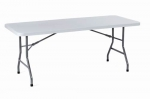 PL3072 <br> Folding Table - 30&quot; W x 72&quot; L - Grey Plastic Folding Table