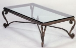 IG2/CT <br> Iron/Glass - IG2/CT Iron/Glass Coffee Table