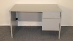 48P30 <br> Grey Laminate - Grey Laminate Single Pedestal Desk 30 x 48
