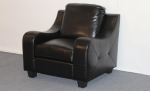 2271-SC - 2271SC - Black Leather Sofa-Chair