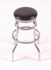 AC/BS <BR> Black & Chrome - Black & Chrome Bar Stool