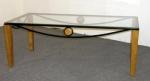 MIL/CT-OBG <br> Oak/Blk/Glass - MIL/CT-OBG Oak/Blk/Glass Cofee Table
