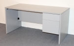 60P30SP <br> Grey Laminate - Grey Laminate Single Pedestal Desk 30 x 60