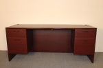 AM2472 <br> Mahogany Laminate - Executive Desk 24 x 72
