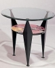 XAXI3/ET <br> Lacquer/Glass - XAXI3/ET Multi-Color Lacquer/Glass Round End Table