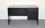 48P30 <br> Black Laminate - Black Laminate Single Pedestal Desk 30 x 48