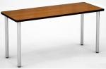 B2460TD <br> Cherry Top w/ Silver Legs - Table Desk 24 x 60