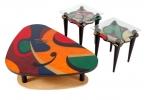AXI/CT & AXI/ET <br> High Gloss Lacquer - AXI/CT Hi Gloss Lacquer Coffee Table . AXI/ET Hi Gloss End Table