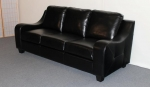 2271-S - 2271S - Black Leather Sofa
