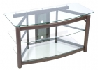 C2342 <br> Bronze/Glass - Bronze/Glass TV/VCR/DVD Stand