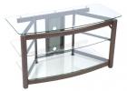 C2342 <br> Bronze/Glass - Bronze/Glass TV/VCR/DVD Stand