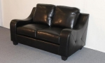 2271-L - 2271L- Black Leather Loveseat