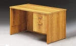AFP3048 <br> Oak Laminate - Oak Laminate Single Pedestal Desk 30 x 48