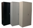 C7218 <br> Metal, Black, Gray, & Putty - Storage Cabinet, in Black, Gray, &amp; Putty