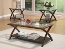 1527/CT & 1527/ET <br> Cappuccino Wood/Glass - 1527/CT Cappuccino Wood/Glass Coffee Table & 1527/ET End Table