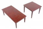 FAUS/CT & FAUS/ET <br> Mahogany - FAUS/CT Mahogany Coffee Table... FAUS/ET Mahogany End Table