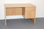 MSP3048 <br> Oak Laminate - Oak Laminate Single Pedestal Desk 30 x 48