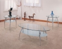 7635/CT & 7635/ET <br> Chrome/Glass - 7635/CT Chrome/Glass Coffee Table & 7635/ET End Table