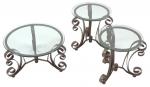 C7371/CT & C7371/ET <br> Bronze Metal/Glass - C7371/CT Bronze Metal/Glass Coffee Table . C7371/ET Bronze Metal