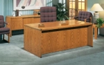 ADP3672 & ACS2072 <br> Oak Veneer - Executive Desk &amp; Matching Credenza