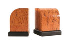 O220 - 1/4 Round Birlwood Bookends