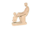 AP1649 - Man & Boy Sculpture Red Clay