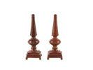 W318 - Bronze Stone Finial-Pair