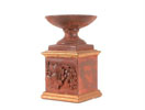 ACC21 - Candle Holder Red Clay w/ Fruit Fresco