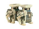 ACC29 - White/Blue Ceramic Elephants