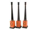 ACC36 - Black Candlesticks/Light wood base
