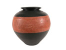 ACC42 - Black Ceramic Vase w/ Band