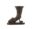 HC104 - Bronze Rams Horn Vase/Bookends