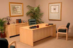 B3672 & B2072 <br> Maple Veneer - Executive Desk &amp; Matching Credenza