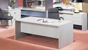 72P36 & 72P18 <br> Gray Laminate - Executive Desk &amp; Matching Credenza