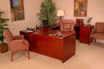 COM3672/42/72 <br> Cherry Veneer - U-Shape Executive Desk