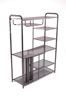2585 <br> Black Wire Mesh - Black Wire Mesh Entertainment Center