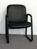 X757 - Black Leather Match Guest Chair