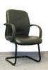 2303SB - Black Leather/ Black Frame Side Chair