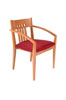 305BUR - Oak/Burgundy, Slatted Back Side Chair