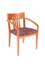 305 - Oak/Multi, Slatted Back Side Chair