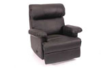 RECL3 - Black Leather Recliner
