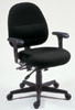 307E-ADJ - Mid Size Adjustable Posture Chair w/ Lumbar & Adj. Arms